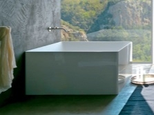 Square bath and is suitable for her bathroom interior