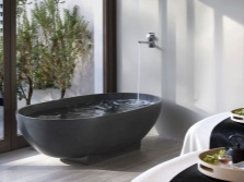 Freestanding baths made ​​of stone