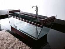 Glass standing bath