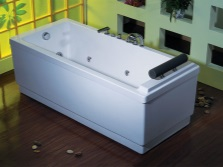 Freestanding bath with a whirlpool and air massage