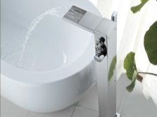 Floor -standing bathtub mixer