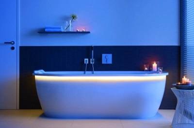 Bath with backlight