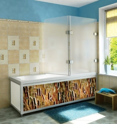 Bath screen with sliding