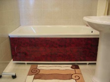 Sliding bath screens with a protective decorative film