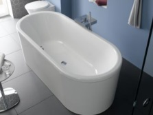 Freestanding bath of steel