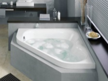 angular steel bath