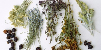 The dried herb bath
