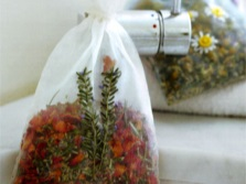 Bag with herbs for herbal saunas