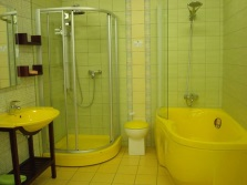 Yellow acrylic bathtub