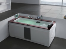 The rectangular hot tub