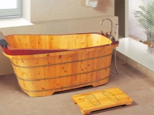 Wooden bath manufactured in China