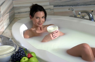 Cleopatra bath with milk whey