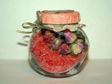 Salt with roses