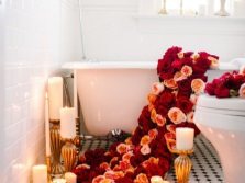 Bath and roses