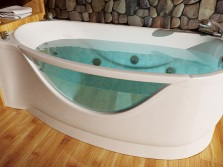 Asymmetric bathtub