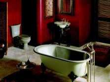 Retro bathtub in the Chinese style