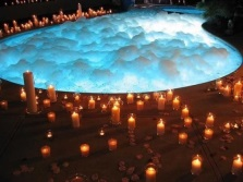 Jacuzzi with candles
