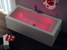 Italian bath with backlight