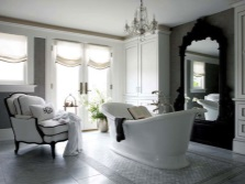 Modern bathroom made ​​in Italy style of old