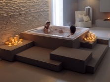 Bath for two by Gruppo Treesse - relaxation