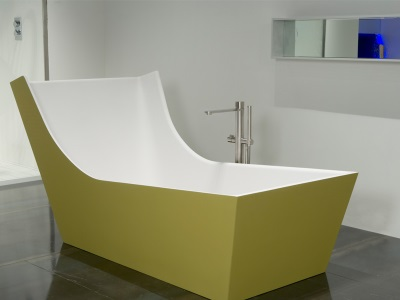 Asymmetric bathtub by Antonio Lupi