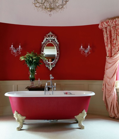 Cast iron red bath