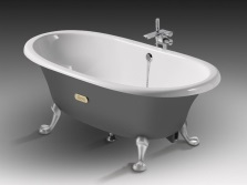 A cast iron bath - mini