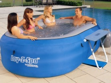 Inflatable hot tub to give