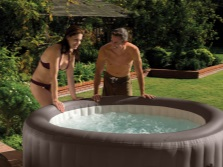 Large inflatable hot tub