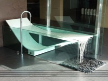 One of the luxury glass bath