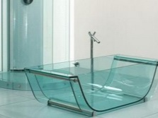Fully glass bath