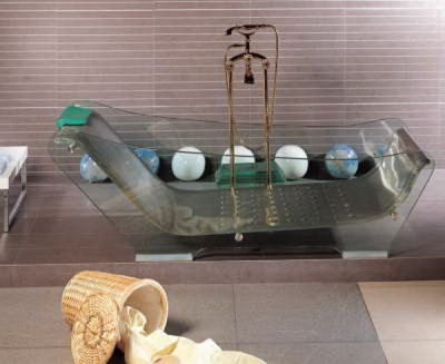 An example of a glass bath