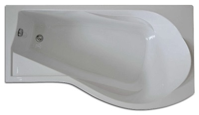 Bath without whirlpool corner