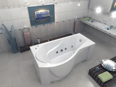 Asymmetric bathtub Capri