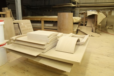 Manufacture of wood bath