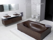 The combination with an interior bathroom