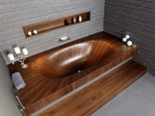 Bath with a podium