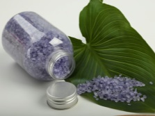 Sea salt with lavender extract