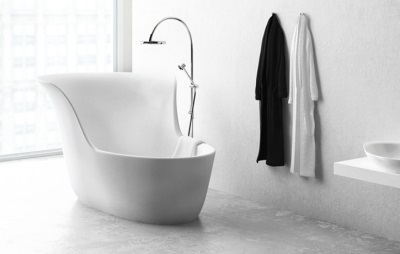 Elegant steel hip bath