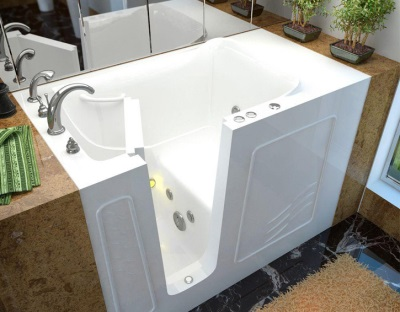 Bathtub seat inside