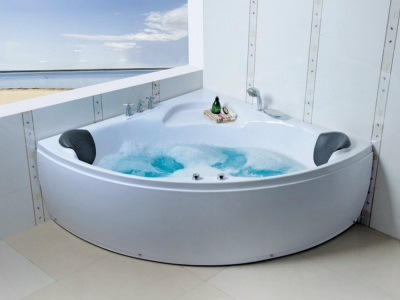 installed jacuzzi