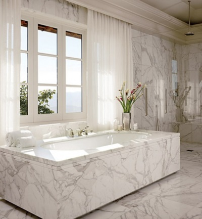 bath of cast marble