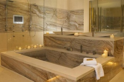 marble bath in the interior