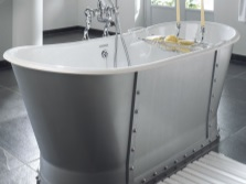 stylish cast iron bath