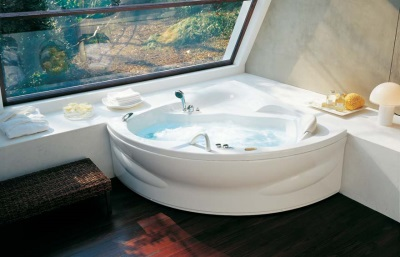Acrylic bathtubs with hydromassage