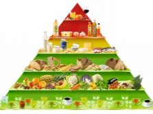 Pyramid healthy balanced diet for weight loss