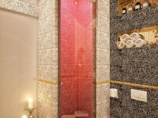Shower in the interior