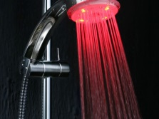 Shower with colored light - chromotherapy