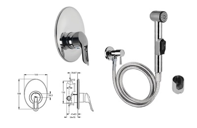 Set - hygienic shower