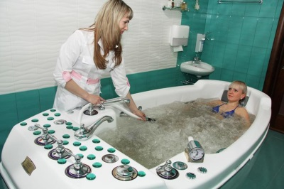 Underwater massage in a sanatorium